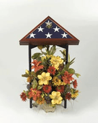 Tri-Column Flag Display Stand - Click to enlarge