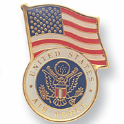 US Air Force Flag Pins (BR Series) - Click to enlarge