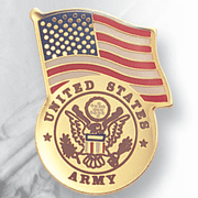 US Army Pins wirh American Flag - Click to enlarge