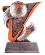 Value Line Soccer Ball & Cleat Trophy - Click to enlarge