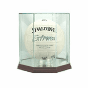 Volleyball Display Case (Glass, Octagon) - Click to enlarge