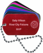 Volleyball Tag with Engraving - Click to enlarge