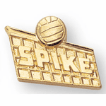 Volleyball Letter Jacket Lapel Pins - Click to enlarge
