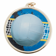 Color Medals (2 3/16 Inch) - Volleyball - Click to enlarge