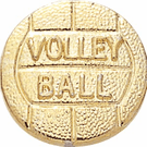 Gold Volleyball Lapel Pins - Click to enlarge