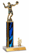Trophies With Place Trim (1st, 2nd, or 3rd) - Volleyball - Click to enlarge