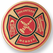 Volunteer Fire Department Medal Insert (Etched) - Click to enlarge