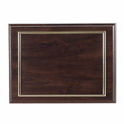 Walnut Finish Plaque with Gold Frame (Holds 8 1/2