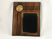Crossed American Flags Plaque - Click to enlarge