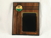 Walnut Plaque - Golf - Click to enlarge