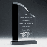 Wave Award Crystal with Black Trim - Click to enlarge