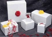White Gift Boxes with Custom Branded Imprint - Click to enlarge