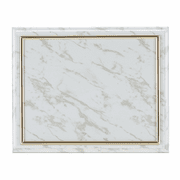 White Certificate Holder with Gold Frame - Click to enlarge