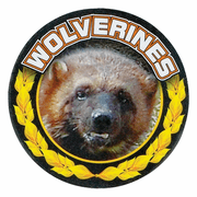 Wolverines Mascot Medal Insert - Click to enlarge