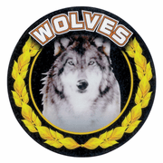 Wolves Mascot Medal Insert - Click to enlarge