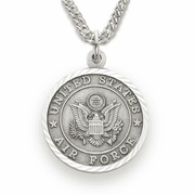 Women's Air Force Medal, St. Michael on Back - Click to enlarge