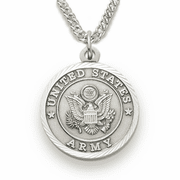 Women's Army Medal, St. Michael on Back - Click to enlarge