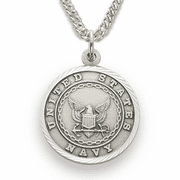 Women's Navy Medal, St. Michael on Back - Click to enlarge