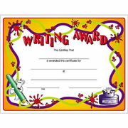 Writing Certificate Award - Click to enlarge