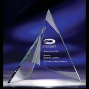 Zephyr Jade Glass Triangle Award (3 Sizes) - Click to enlarge