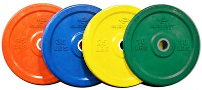 Element Fitness Commercial Colored Bumper Plates