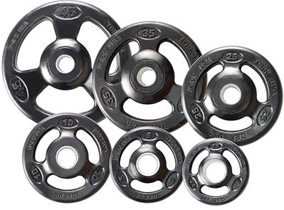 York ISO-Grip Steel Composite Olympic Plates
