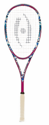 SAVE $65 - Harrow Stealth Squash Racquet, Camo / Pink / Blue