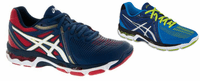 almost gone - Asics Gel Netburner Ballistic Men's Court Shoes, Navy / Silver / Electric Blue