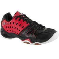 last few - Ektelon T22 Low Men's Court Shoes, Red/Black, SIZE 8