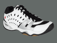 last few - Ektelon T22 Mid Squash / Racquetball Men's Shoes, White, SIZE 8