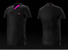 Eye Rackets Performance Line V-Neck Shirt, Black / Pink Trim