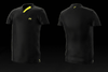 Eye Rackets Performance Line V-Neck Shirt, Black / Yellow Trim