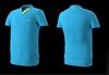 Eye rackets Performance Line V-Neck Shirt, Light Blue / Yellow Trim