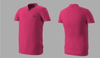 Eye Rackets Performance Line V-Neck Shirt, Pink / Navy Trim, Size M