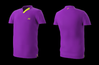 Eye Rackets Performance Line V-Neck Shirt, Purple / Yellow Trim