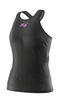 Eye Rackets Performance Line Women's Racerback Tank, Black / Pink Trim