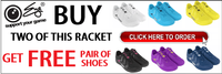 Free Eye Racket Shoes with Purchase 2 Eye Rackets