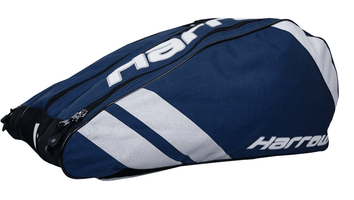 Harrow Ace Pro Racquet Shoulder Bag, Navy / Silver