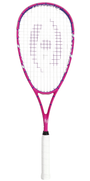 Harrow Junior Squash Racquet, with 1/2 Cover, Pink / Purple
