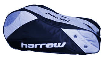 Last few of this style - Harrow Tour Racquet bag, Navy / Silver