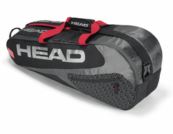 Head Elite 6R Combi Racket Bag, Black / Red