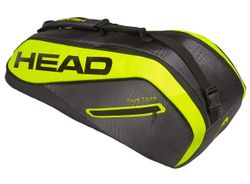 Head Extreme Supercombi 6-Racket Bag, Black / Neon Yellow