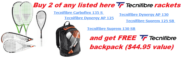 FREE Air Endurance Backpack, $44.95 value, with selected Tecnifibre rackets
