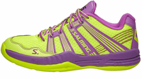 last pair - Salming 2016 Race R5 3.0 Women's Court Shoes, Yellow / Purple, SIZE 10.5