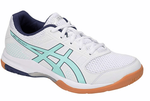 NEW - Asics Gel-Rocket 8 UNISEX Indoor Court Shoes, White / Icy Morning