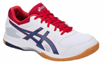 Asics Gel-Rocket 8 Men's Indoor Court Shoes, White / Deep Ocean