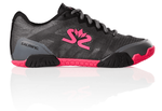 new color - Salming Hawk Women's Shoe, Gunmetal / Pink