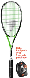 FREE Tecnifibre Air Endurance Backpack with 2 rackets - Tecnifibre Suprem 125 SB Squash Racquet