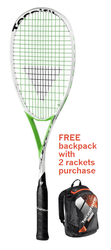 FREE Tecnifibre Air Endurance Backpack with 2 rackets - Tecnifibre Suprem 130 SB Squash Racquet
