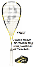 With FREE bag option - Prince Pro Rebel 950 Squash Racquet